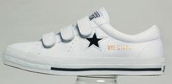 converse one star velcro blanc